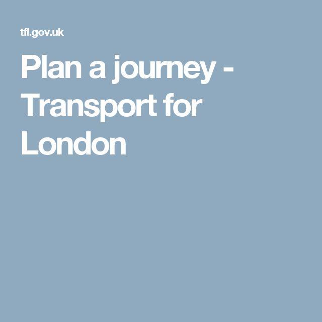Plan a journey - Transport for London