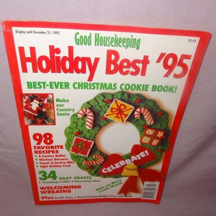 Good Housekeeping Magazine December 1995 Best Christmas Cookies Recipes Wreath #GoodHousekeeping