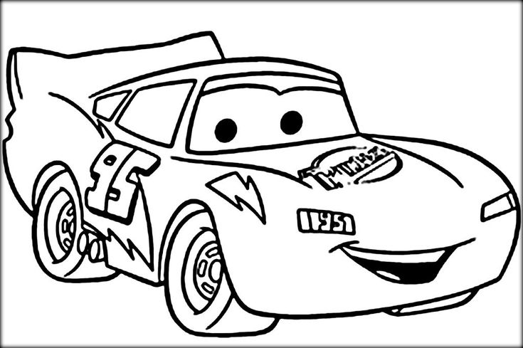 Lightning Mcqueen Coloring Pages Race Car Coloring Pages