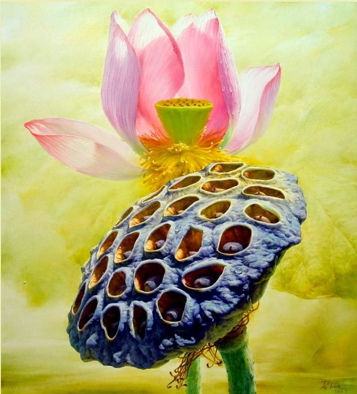 Jiang Debin, 1963 ~ Lotus watercolor | Tutt'Art@ | Pittura * Scultura * Poesia * Musica |