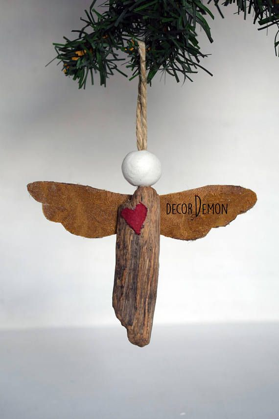 Driftwood Christmas angel by Decordemon