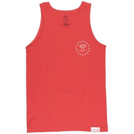 dc39e26947f Diamond Supply Co US Cities Tank Top America Regular Fit Shirt LA NY Miami  Red