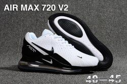 e5b77858bf Nike Air Max 720 V2 KPU Men's Running Shoes White Black in 2019 ...