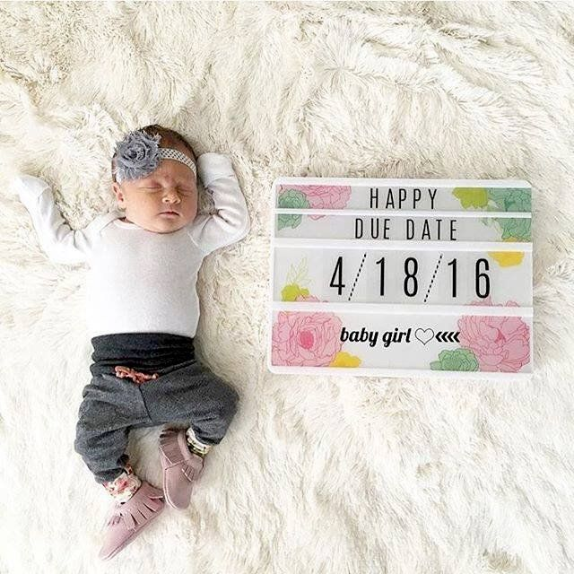 Other: Lots of Heidi Swapp Lightbox Inspiration - Find amazing Light Box inspiration in the Scrapbook.com Gallery like this adorable photo prop for a baby announcement.