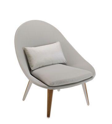 Lounge Sessel Vanity / Gepolstert   Textil U0026 Teak, Grau / Weiß U0026 Teak Von  Vlaemynck Finden Sie Bei Made In Design, Ihrem Online Shop Für  Designermöbel, ...