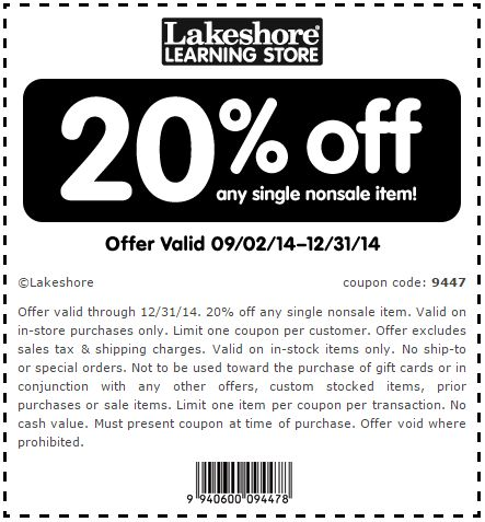 image about Lakeshore Learning Printable Coupons known as Lakeshore coupon code totally free shipping and delivery / Traditions golfing