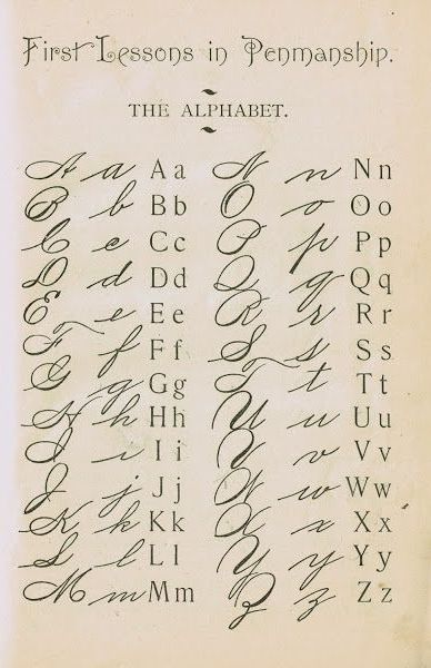 'First Lessons in Penmanship' from a school in 1895. #ScribeInStyle http://www.smythson.com