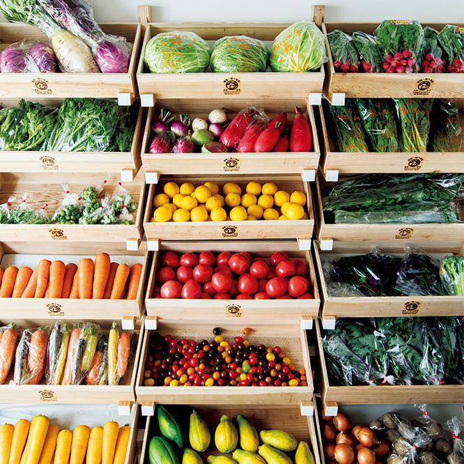 谷根千ブームで賑わう根津にまた一つ話題のお店が。旬の野菜が揃う八百屋さんは、デザインにも注目です。