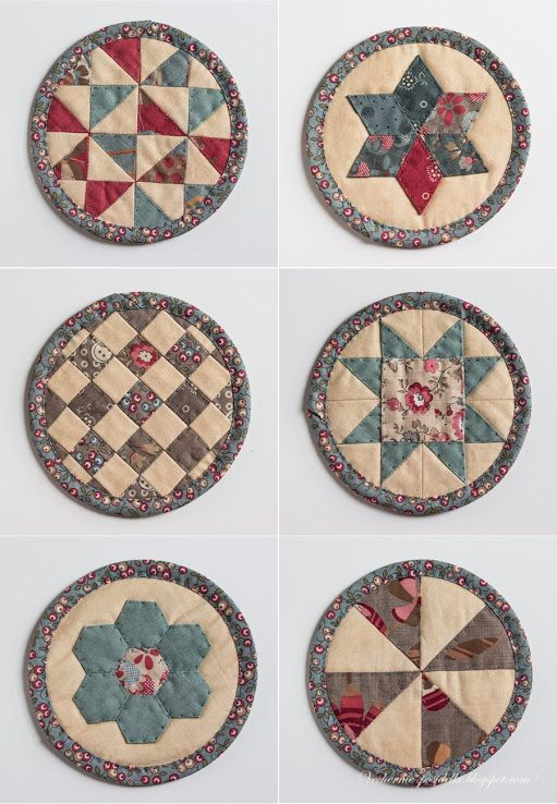 Coasters..the blog is in a different language but these coasters are beautiful