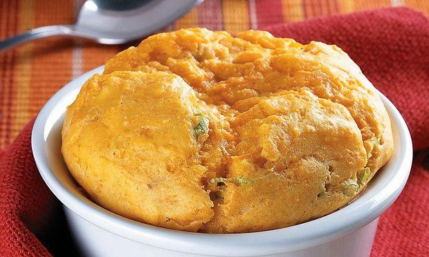 Suflê de cenoura Receita: http://mdemulher.abril.com.br/culinaria/receitas/receita-de-sufle-cenoura-483194.shtml