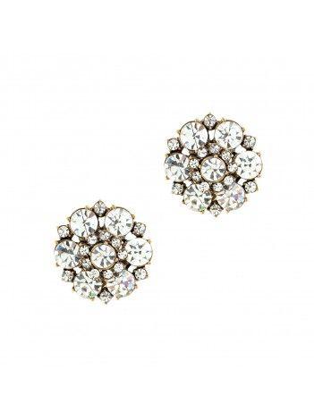 J Crew Circular Petals Earrings $28