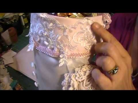 HOW TO MAKE A VERY FANCY VICTORIAN CHRISTMAS STOCKING - YouTube