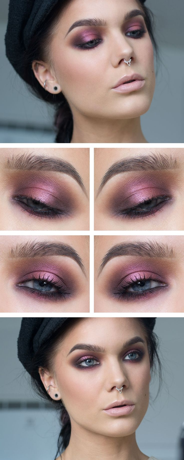 Hen Party - I chose this look for a hen party as it's fun to play with different colours for a smokey eye, keeping the skin flawless and a nude lips means all attention is drawn to the gorgeous bright fun colours used on the eyes