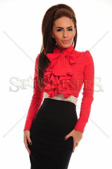 PrettyGirl Frill Guts Red Shirt