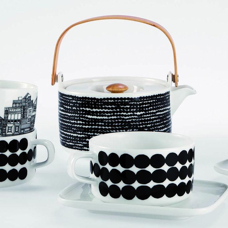 Marimekko teapot and cup