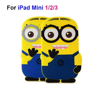 Minions Silicone Cover Case for ipad mini 1 2 3