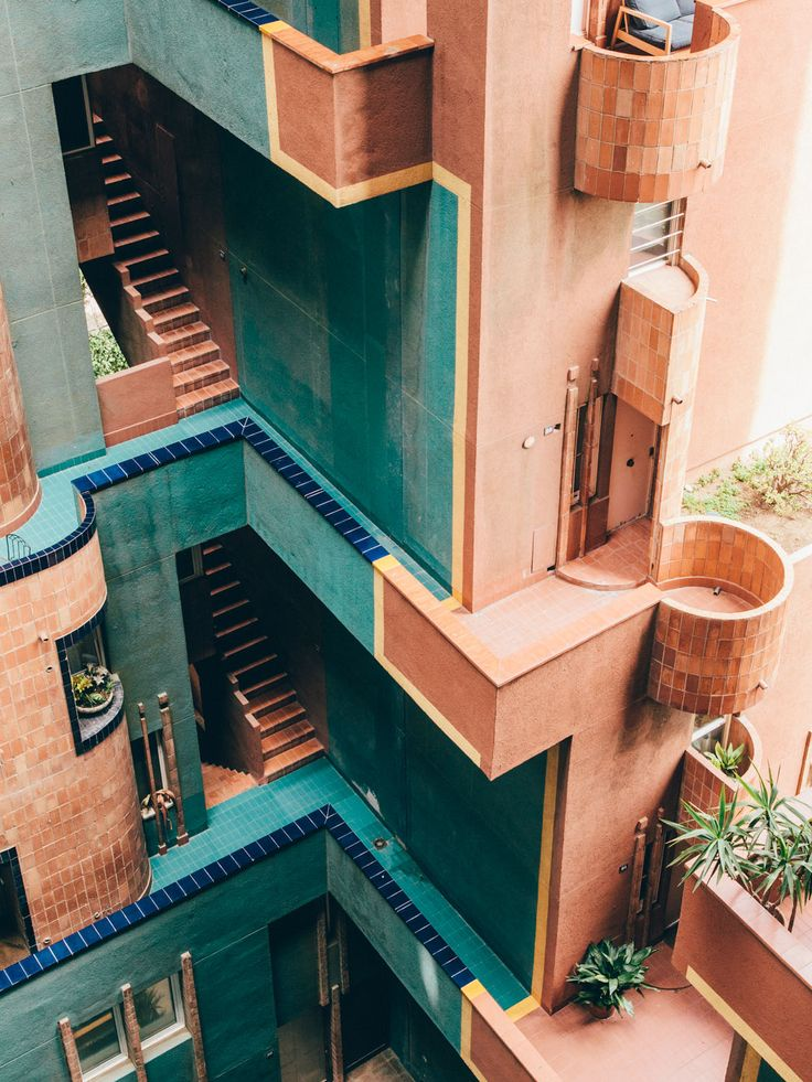 Ricardo Bofill's Walden 7 – utopian vision for social living found form in the cubist heights and halls. // photo by Salva López