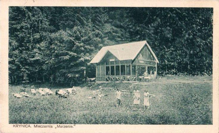 Mleczarnia Marzenie (Altana), Krynica-Zdrój - 1928 rok, stare zdjęcia