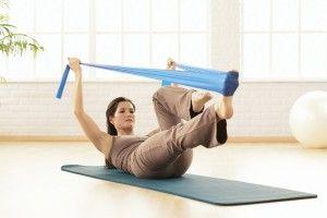 Pilates-mat-élastique