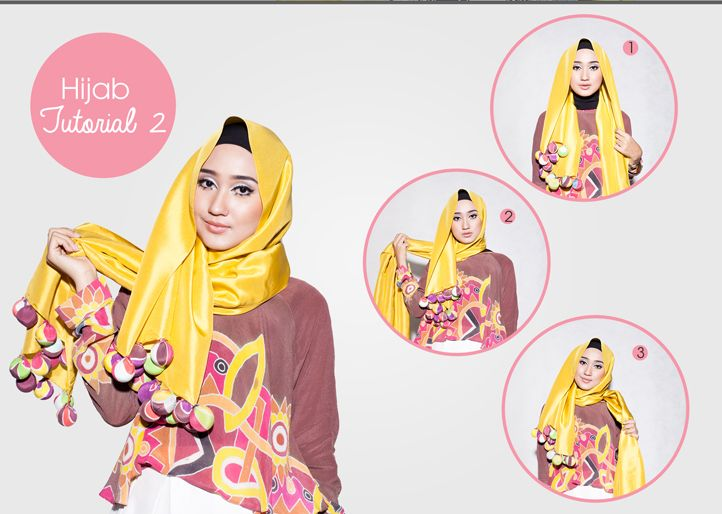 Pop Batik Hijab Tutorial   Dian Pelangi