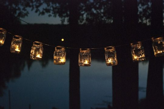 A cute & safe way to light up an area with candles....