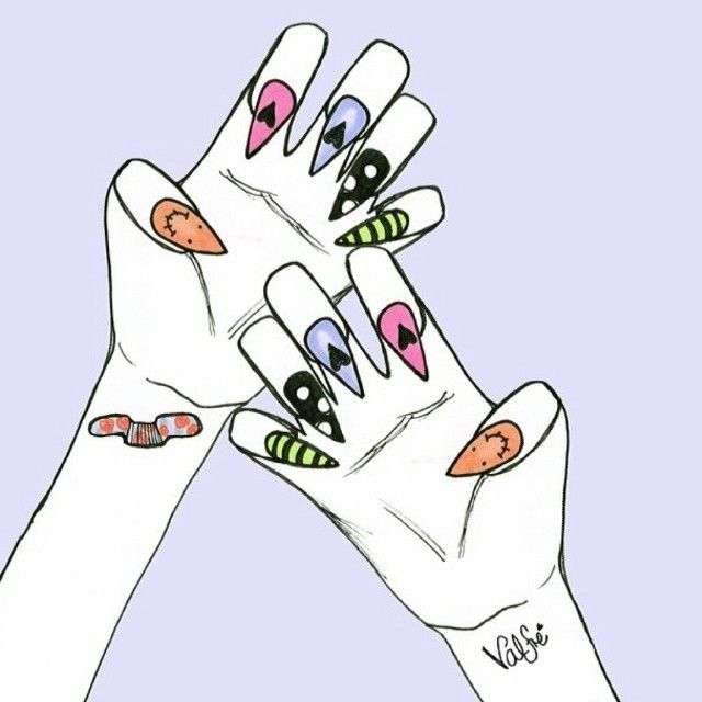 Girl paws with claws! Nailspiration by valfre!