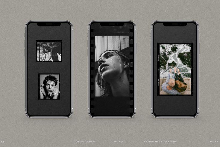 Film frames polaroid instagram stories on behance