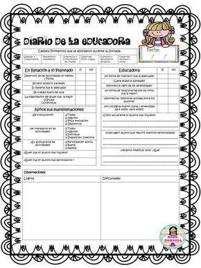 Compañeros y amigos agradecemos a Nereida Lorely Contreras por este excelente diario de la educadora simplificado sin duda un material