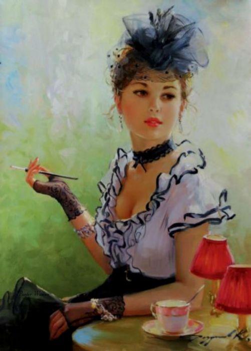 Retro Ladies by Kostantin Razumowski