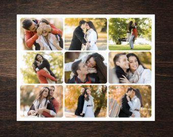 Foto Collage modello 8,5 x 11 #6, fotografia 9, modello di Storyboard con normale & angoli arrotondati, fotografo Template, template PSD