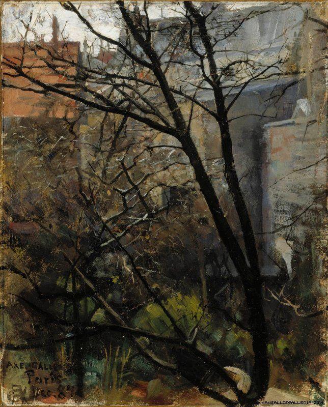 AKSELI GALLEN-KALLELA Parisian Backyard (1884)