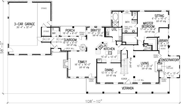 Southern Country Home Plan - 19177GT | 1st Floor Master Suite, Corner Lot, Country, Den-Office-Library-Study, In-Law Suite, Jack & Jill Bath, Loft, MBR Sitting Area, PDF, Southern | Architectural Designs