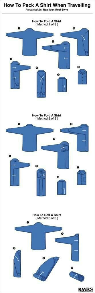 How to fold a shirt when traveling