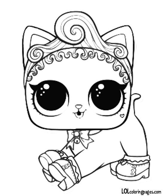 Pet - Royal Kitty-Cat Coloring Page | Cat coloring page ...