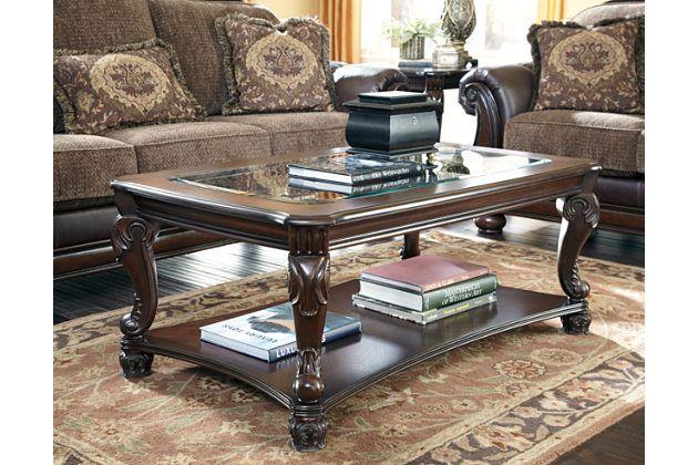 Dark Brown Norcastle Coffee Table View 1