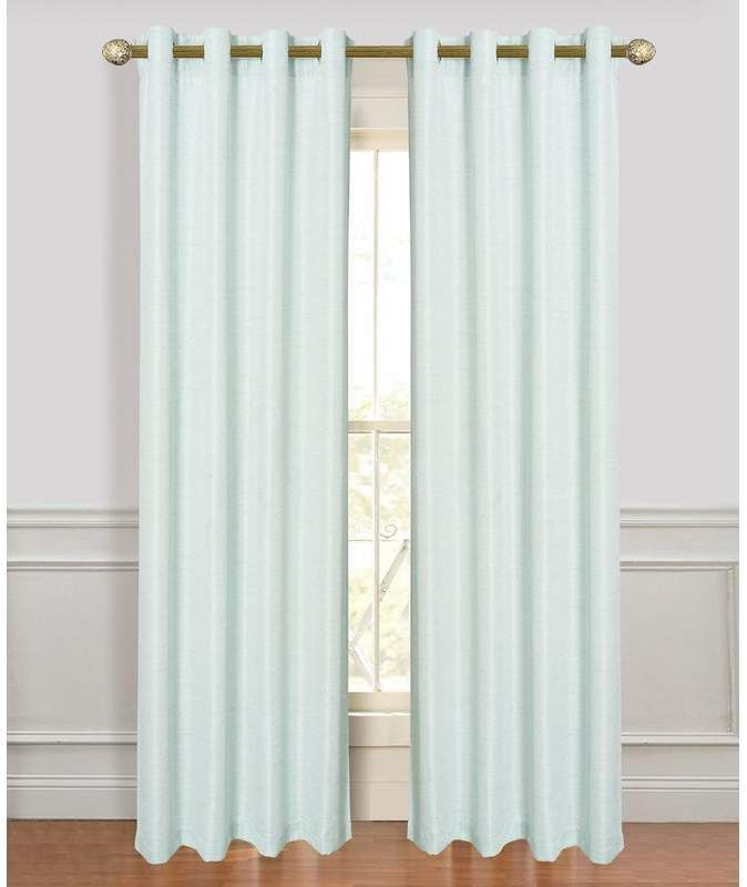 Alcott Hill Higuera Fine Antique Silk Extra Wide Solid Room Darkening Grommet Window Curtain Panels Alcott Antique Curtains Drapes Curtains Panel Curtains