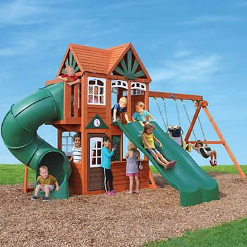 cedar summit spring valley deluxe playset do it yourself play - Backyard Playground Equipment