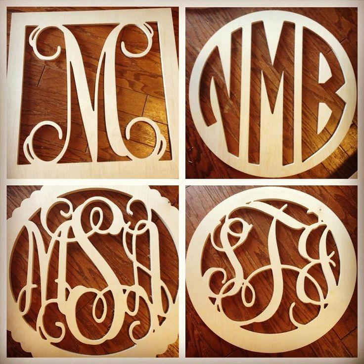 Large wooden monogram letters wooden monogram letter s for Small room 4 letters