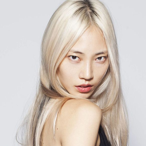 Platinum blonde Asian