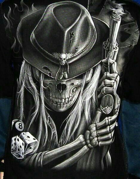 Chapeau de cowboy / crâne de dés   – Tattoo