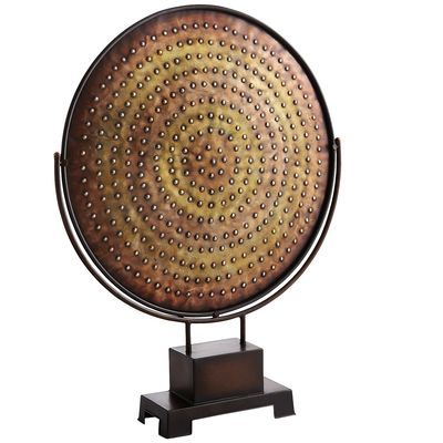 Metallic Circles Platter with Stand
