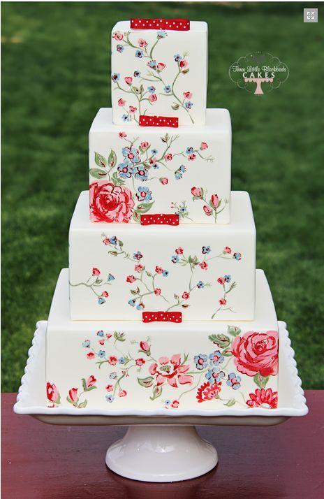 Hand painted cake