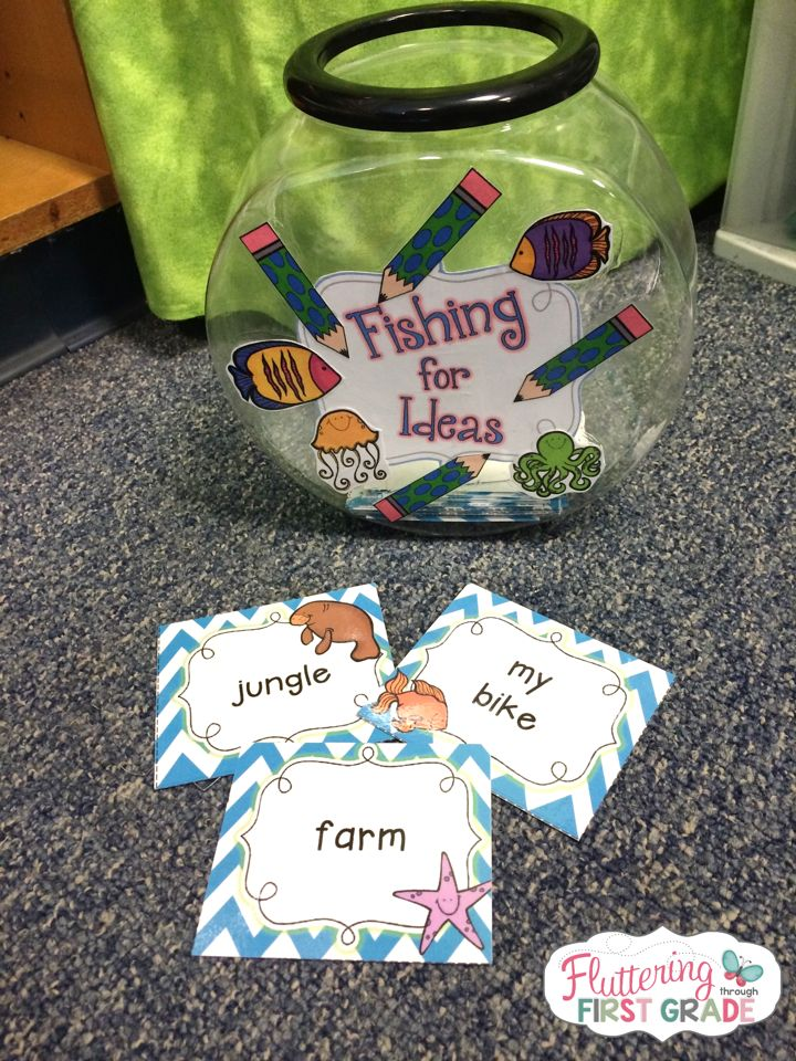 The hardest part about writing for our first graders is always coming up with an idea! Now, we just send them Fishing for Ideas...Problem solved!