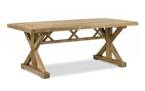 Pedestal trestle dining table plans woodworking projects for Trestle dining table plans