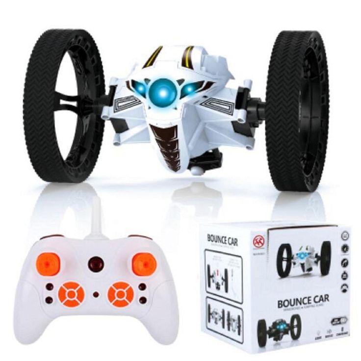 RC Jumping Bounce Cars Shock Resistance 4CH 2.4GHz with Flexible Wheels Speed Switch Dec30 Robot RC Car RC Toys Kid's Toys Gifts