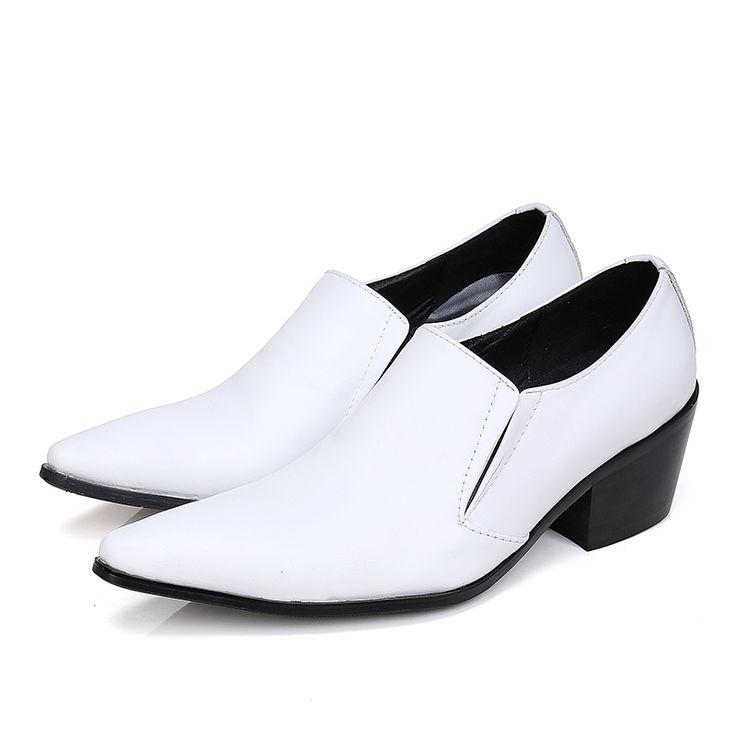 Christia Bella Fashion Men Oxfords Genuine Leather Italian Men Dress Shoes Slip on Brogues Shoes White Wedding Formal Shoes Male