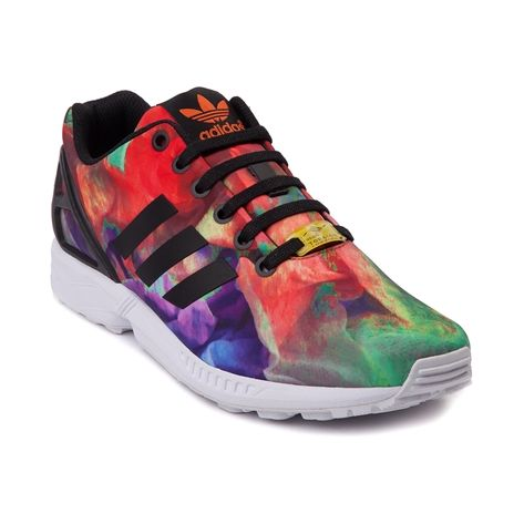 Shop For Womens Adidas ZX Flux Athletic Shoe In Rainbow At