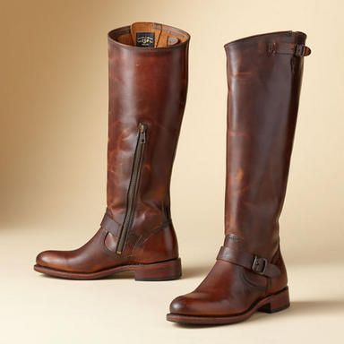 JET ENGINEER BOOTS: vegetable-tanned frye boots, I love my Frye boots! This might be my next pair!