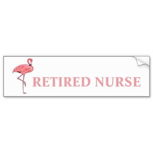 Funny flamingo retired teacher bumper sticker flamingo and teacher