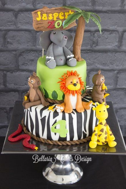 Zoo cake for a birthday boy